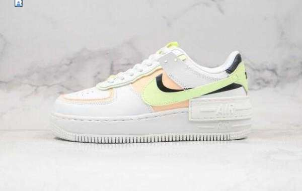 2020 Nike WMNS Air Force 1 Shadow White Pink Green