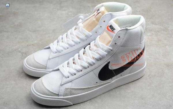 New Nike SB Zoom Blazer Mid PRM White Black Orange for Sale