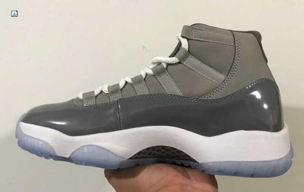 """Latest 2021 Air Jordan 11 """"Cool Grey"""" Basketball Shoes CT8012-005 Fast Shipping!"""